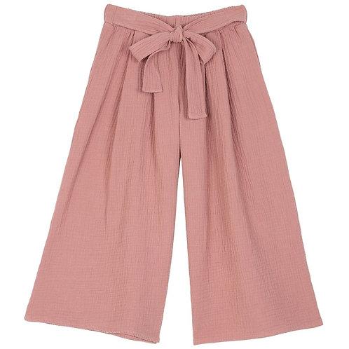 Pantalon fillette gaze de coton Emile et Ida