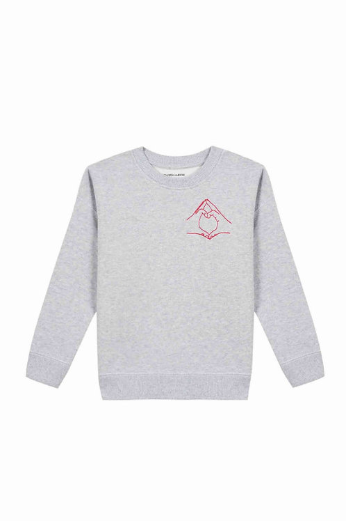 Sweat shirt hand love Maison Labiche