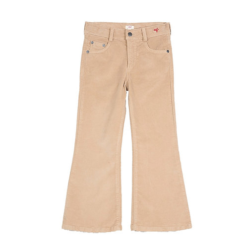 Pantalon flare beige Zef Paris