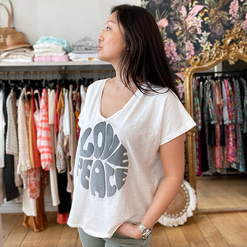 T-shirt Love Peace gris Banditas
