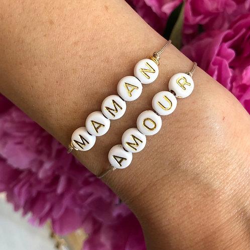 Bracelet Maman et Amour