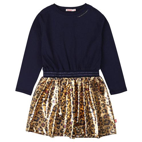 Robe léopard doré Billieblush