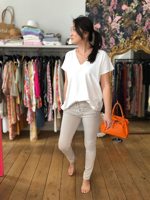 Pantalon Melly Melly beige Melly and Co