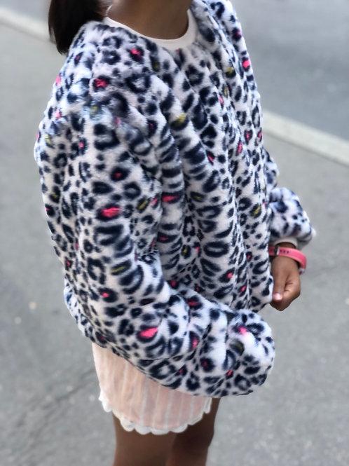 Sweat-shirt léopard Billieblush