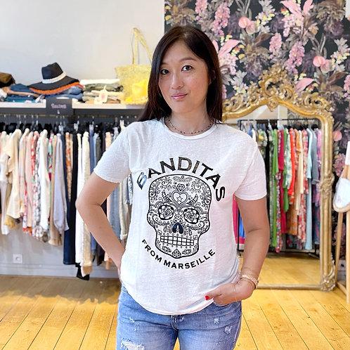 T-shirt Marseille Lin blanc Banditas