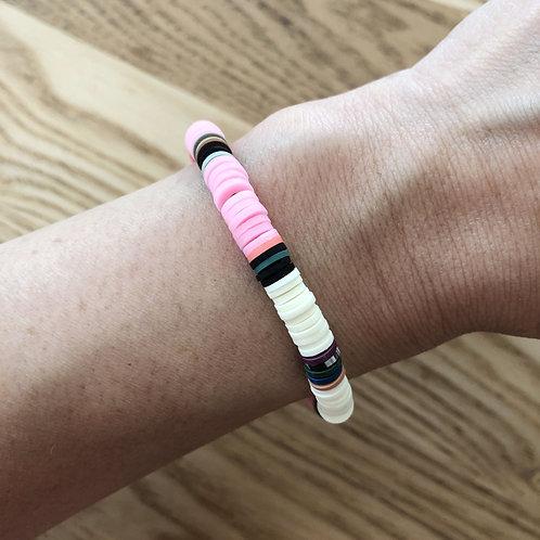 Bracelet surf heishi rose