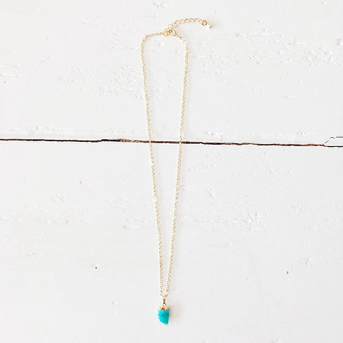Collier Dent turquoise