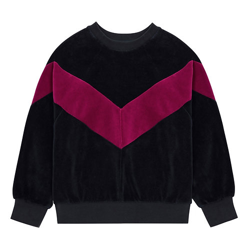 Sweat velours bande Hundred Pieces