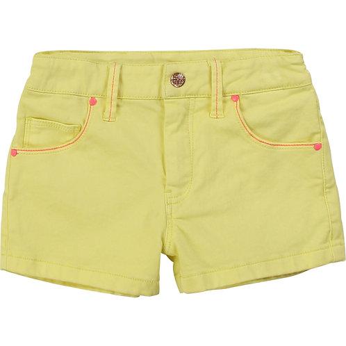 Short brodé jaune Billieblush