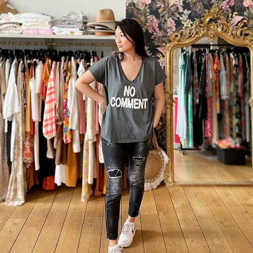 T-shirt No Comment gris mc Banditas