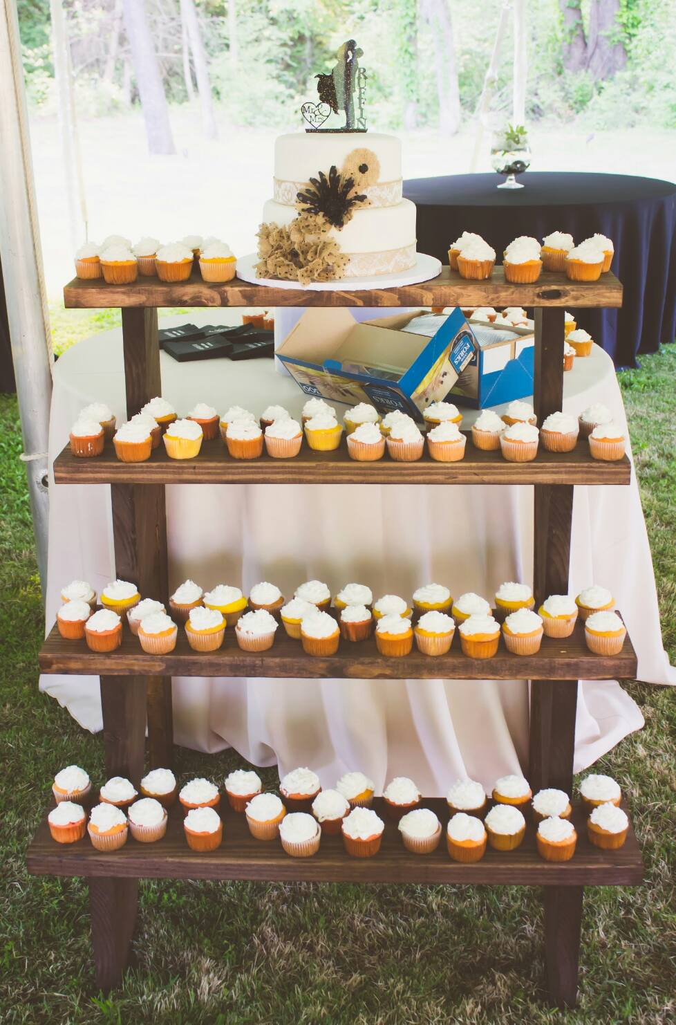 stair cupcake stand wedding