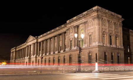 Louvre Museum Backside