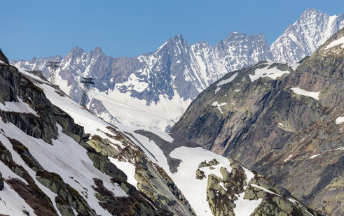 Grimsel Pass Mountains