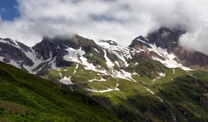 Kitzsteinhorn in Clouds