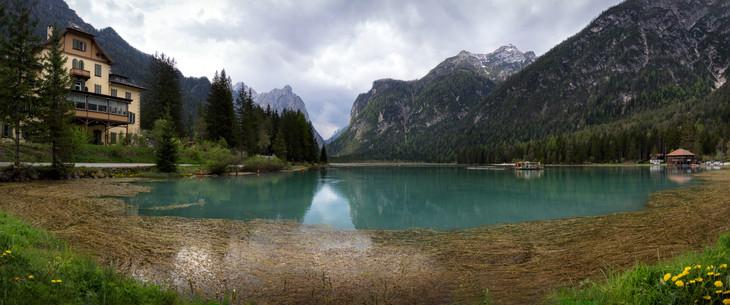 Lake Dobbiaco (Toblacher See) Panorama