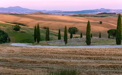 Sunset in Val d'Orcia