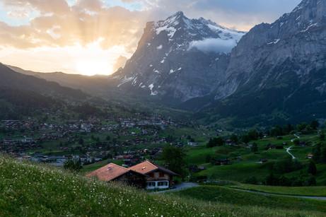 Sunrise in Grindelwald