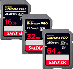 Sandisk Extreme PRO SD Memory Cards
