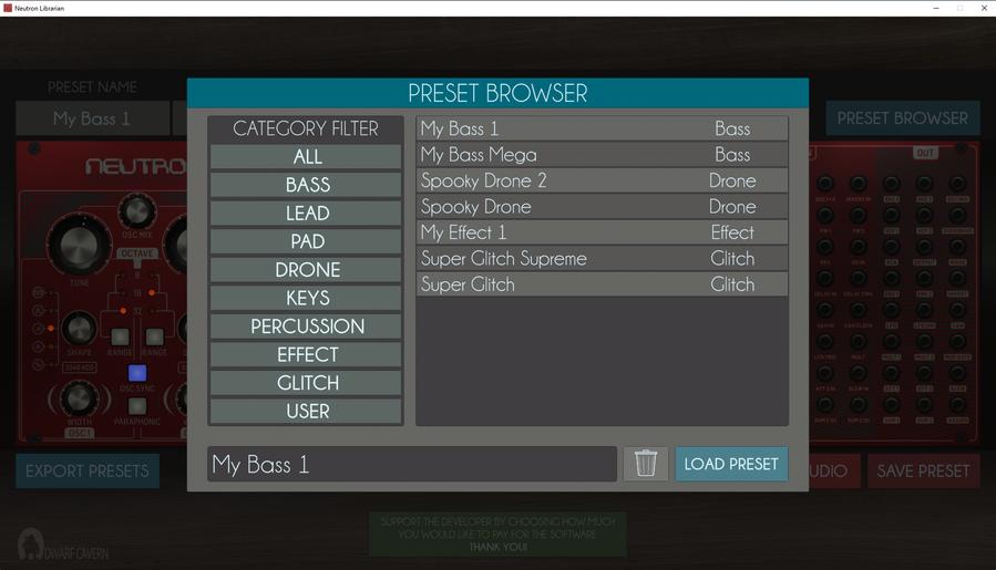 Preset Browser