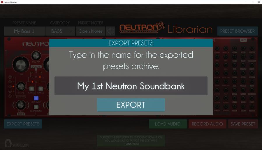 Export Soundbanks