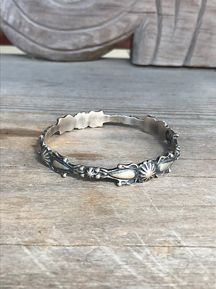 Sterling Silver Scroll Bangle
