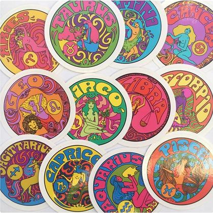 Hand-Drawn Zodiac Stickers