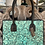 Thumbnail: Turquoise + Black Hand-Tooled Leather Tote | Juan Antonio