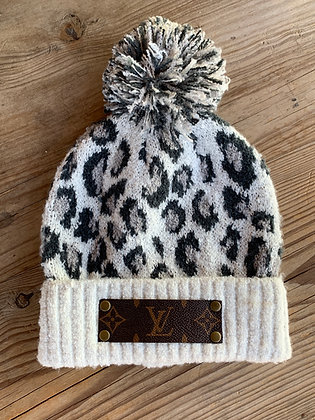 Up-Cycled Louis Vuitton Cheetah Beanie