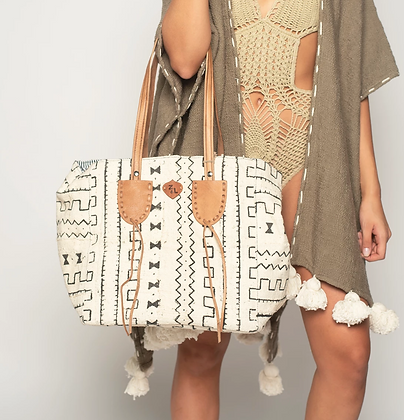 Mud Cloth Shoulder Bag