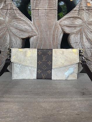 Sweet Treasures Louis Vuitton + Cowhide Crossbody