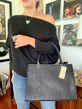 Black Bison + Cowhide Tote Bag by Juan Antonio