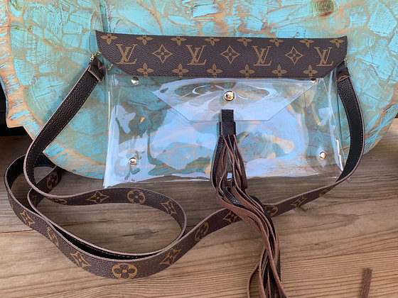 Up-Cycled Louis Vuitton Game Day Bag | Crystal Vision