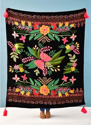 Velvet Precious Threads Floral Throw