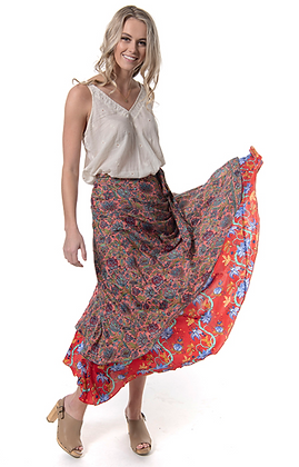 Goddess Silk Wrap Skirt