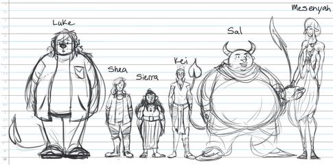 Kei's Saga Character Lineup 01