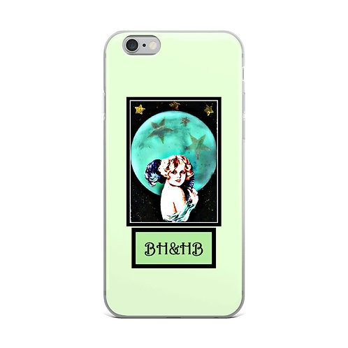 Light Lime Green iPhone Case Full Moon Moonlight Woman BOHO Chic Gifts