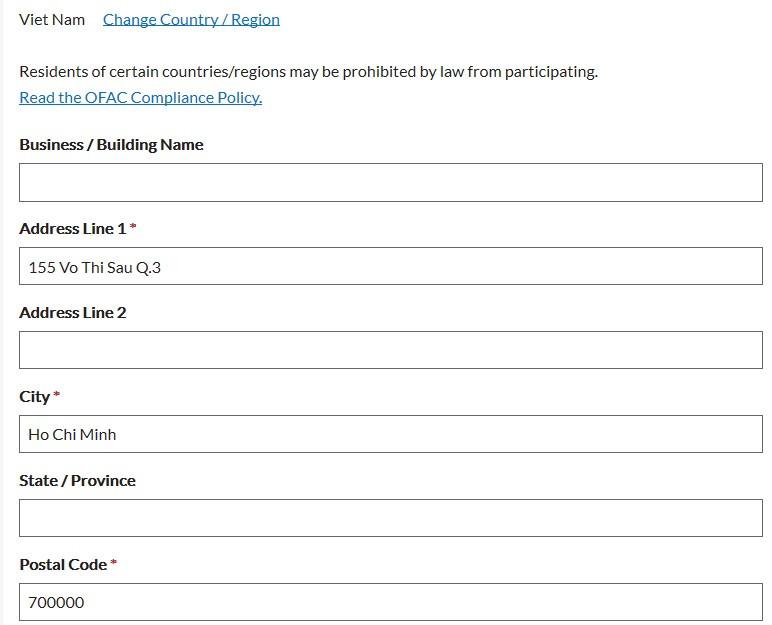 form đăng ký thi CFA