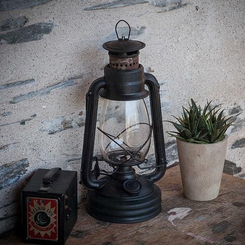 LAMPE TEMPÊTE ANCIENNE EN MÉTAL