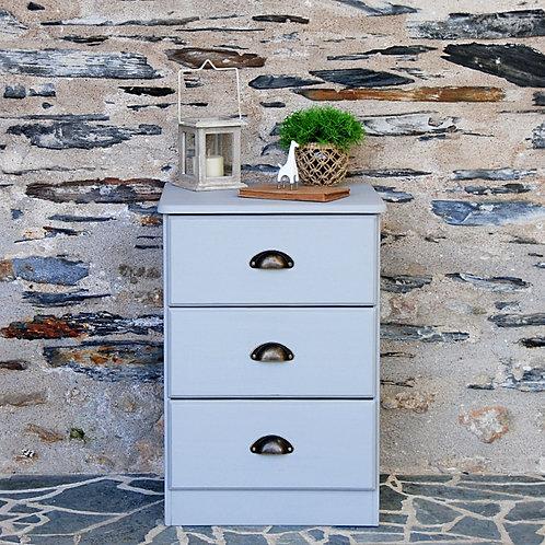 meuble gris 3 tiroirs - Gris Groseille Angers