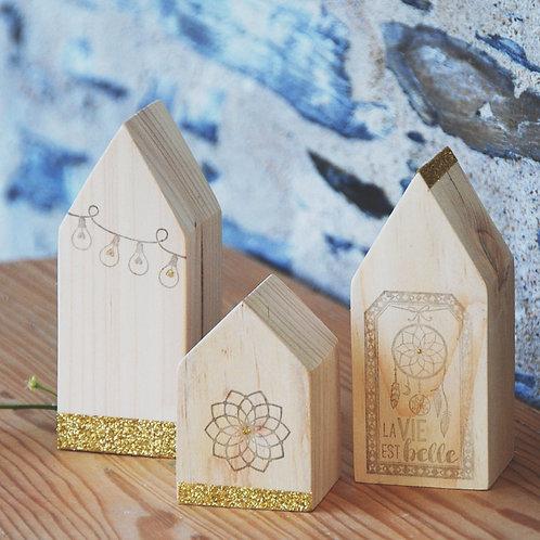 Maisons en bois décoratives - Gris Groseille boutique créateurs Angers (Maine-et-Loire,49)