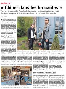 Article du Courrier de l'Ouest du 16 Avril 2018 - Gris Groseille brocante Angers 49