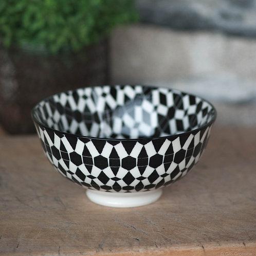 Bol pomax Dzipa noir pm en porcelaine - Gris Groseille boutique décoration Angers