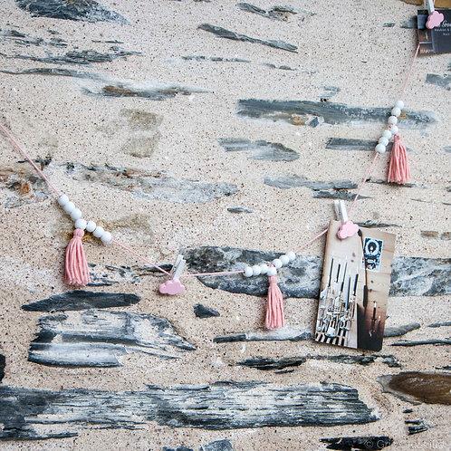 Guirlande porte-photo rose - création chambre enfant Angers 49