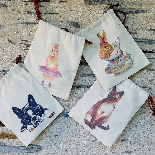 Tote bag Alice - Gris Groseille concept store Déco Angers