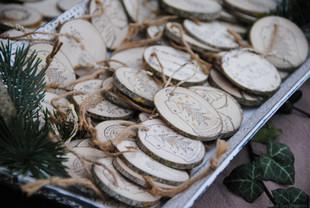 Rondelles de bois décoratives 100% Homemade