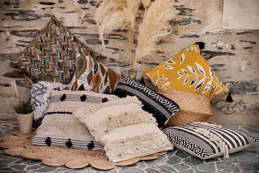 collection textile coussin automne hiver 2021 - 2022 - gris groseille boutique déco maison