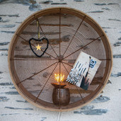 Tamis ancien en bois et fils de métal