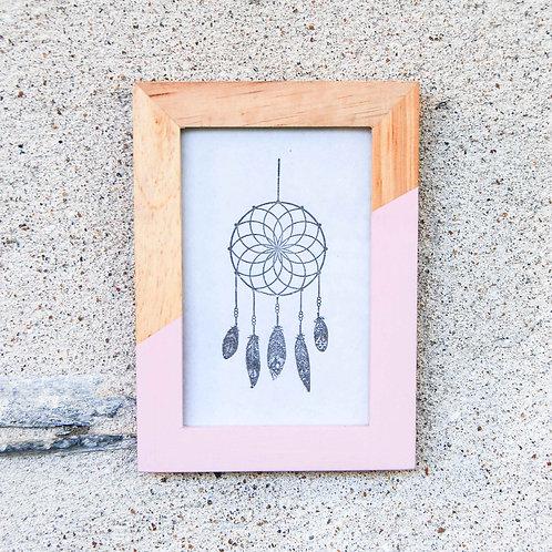 cadre-photo bois rose - gris Groseille boutique déco bohème Angers 49