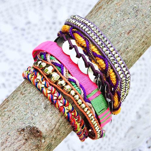 Bracelet manchette style Ipanema - Gris Groseille Boutique bijoux Angers 49