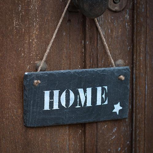 """PLAQUE ARDOISE """"HOME"""""""